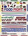 Food Fight Related to Foods Decal