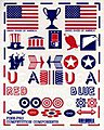 Patriotic Decal Set -- Pinewood Derby Decal and Finishing -- #10018