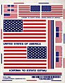 USA Flag Decal Set -- Pinewood Derby Decal and Finishing -- #10022