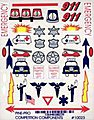 Emergency Vehicle Decal -- Pinewood Derby Decal and Finishing -- #10023