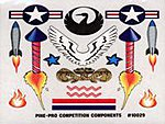 Rockets Mini Decal -- Pinewood Derby Decal and Finishing -- #10029