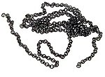 Black Chain 27 links per inch (12'')