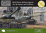WWII Russian IS2 Tank (5) -- Plastic Model Military Vehicle Kit -- 15mm -- #1530