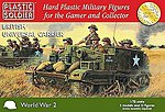 WWII British Universal Carrier (3) & Crew (12) -- Plastic Model Personnel Carrier -- 1/72 -- #7213