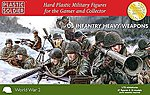 WWII US Infantry (57) with Heavy Weapons -- Plastic Model Military Figure -- 1/72 Scale -- #7227