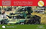 British A9 Cruiser Tank (3) & Crew -- Plastic Model Military Kit -- 1/72 Scale -- #7233