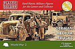 WWII German Medium Trucks (3) -- Plastic Model Military Vehicle Kit -- 1/72 Scale -- #7235