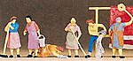 People Working Housewives Working (6) -- Model Railroad Figure -- HO Scale -- #10059