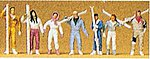 Skiers (7) -- Model Railroad Figures -- HO Scale -- #10316