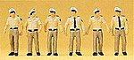German Police Assorted Policemen (6) -- Model Railroad Figures -- HO Scale -- #10340