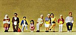 Passengers Sitting On Bus #2 (9) -- Model Railroad Figures -- HO Scale -- #10385