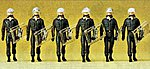 German Riot Police With Shields At Side (6) -- Model Railroad Figures -- HO Scale -- #10392