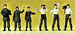 German Police Border Guards (6) -- Model Railroad Figures -- HO Scale -- #10394