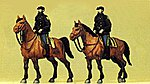 Police Mounted On Horseback United States Police -- Model Railroad Figures -- HO Scale -- #10397