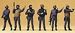 German Police SWAT Team (GSG9) (6) -- Model Railroad Figures -- HO Scale -- #10446