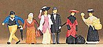 1900s Travelers & Passers-By -- Model Railroad Figures -- HO Scale -- #12138
