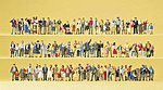 Pedestrians - On Streets & Squares -- Model Railroad Figures -- HO Scale -- #13002