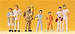 Spectators (8) -- Model Railroad Figures -- HO Scale -- #14143