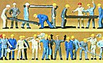 Railroad Personnel - Track Workers -- Model Railroad Figures -- HO Scale -- #14403