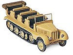 German Army WWII SdKfz 11 Medium Half-Track -- HO Scale Model Railroad Vehicle Kit -- #16544