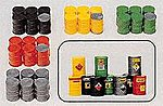 Assorted Metal Drums -- Model Railroad Building Accessory -- HO Scale -- #17101