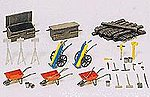 Accessories for Track Workers -- Model Railroad Building Accessory -- HO Scale -- #17175