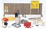 Concrete Mixer, Tool Kit -- Model Railroad Building Accessory -- HO Scale -- #17177