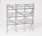 Facade Scaffolding Kit -- HO Scale Model Railroad Accessory -- #17180