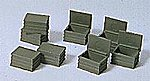 Military Steel Storage Chests -- Model Railroad Building Accessory -- HO Scale -- #18361