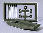 Military Raft with Oars and Life Jackets -- Model Railroad Building Accessory -- HO Scale -- #18367