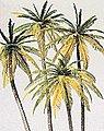 Palm Trees pkg(4) -- Model Railroad Tree -- HO-Scale -- #18600