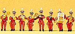 Circus Seated Band (8) -- Model Railroad Figures -- HO Scale -- #20259