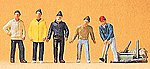 Circus Roustabouts with Tools -- Model Railroad Figures -- HO Scale -- #20261