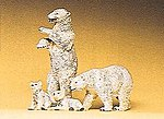 Polar Bears -- Model Railroad Figures -- HO Scale -- #20384