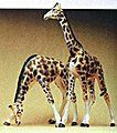 Giraffes (2) -- Model Railroad Figures -- HO Scale -- #20385