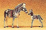 Zebras -- Model Railroad Figures -- HO Scale -- #20387