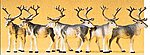 Reindeer (6) -- Model Railroad Figures -- HO Scale -- #20394