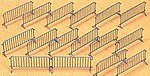 Barriers Kit -- HO Scale Model Railroad Road Accessory -- #25175