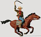 Cowboy on Horse -- Model Railroad Figure -- HO Scale -- #29065