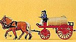 Horse-Drawn Fire Water Wagon -- HO Scale Model Railroad Vehicle -- #30426