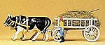 Ox-Drawn Hay Wagon with Driver & Load - Assembled - HO-Scale -- HO Scale Model -- #30472