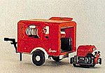 Ziegler Firefighting Trailer -- HO Scale Model Railroad Vehicle -- #31112