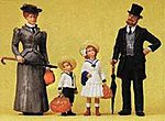 Family on Holliday -- Model Railroad Figures -- G Scale -- #45062