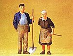 Farmer & His Wife -- Model Railroad Figures -- G Scale -- #45071