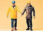 Modern Workmen Walking -- Model Railroad Figures -- G Scale -- #45088