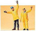 Modern Workmen Signaling -- Model Railroad Figures -- G Scale -- #45089
