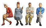 Seated Travellers #3 -- Model Railroad Figures -- G Scale -- #45123
