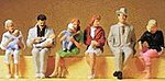 Seated Passengers -- Model Railroad Figures -- G Scale -- #45151