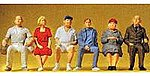 Seated People -- Model Railroad Figures -- G Scale -- #45152