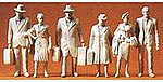 Unpainted Figures - Standing Passengers - G-Scale (6) -- G Scale Model Railroad Figure -- #45177